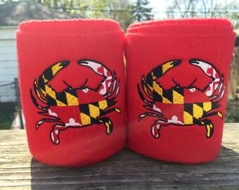 Maryland Flag Crab Embroidered Polo Wraps