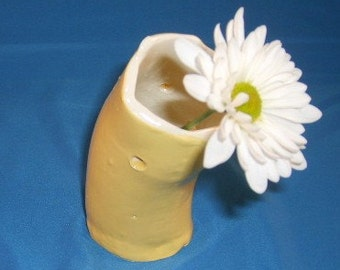 Holey Butter Yellow Vase