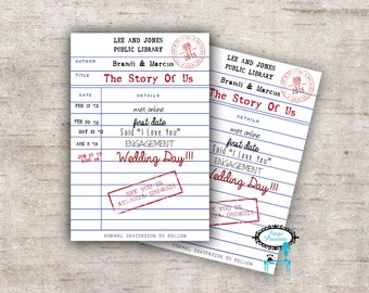 personalized library card save the date book the date library card invite