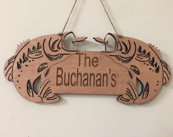 Personalized Fish Sign