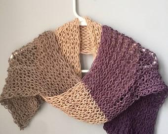Fine Knit Long Scarf