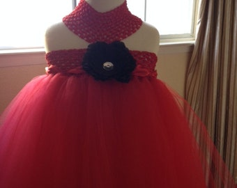 Red Flowergirl Dress