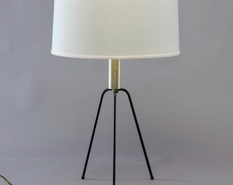 Mid-Century Iron Tripod Table Lamp