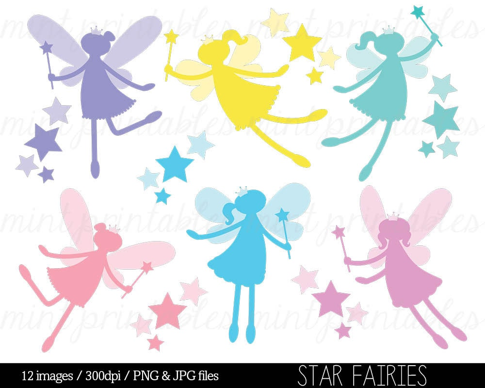 fairy silhouette digital clipart clip art clipart fairies rh etsy com digital clipart ebook digital clipart for commercial use