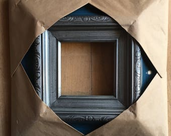 Semi-Ornate Blue/Pewter Wooden Frame *Available with purchase of art ONLY