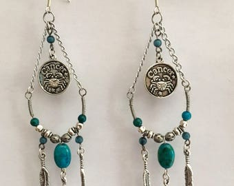 Cancer goddess earrings