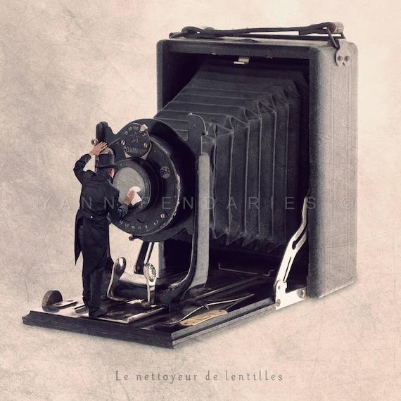 photographer gift, Camera Print, Camera Art, Living Room Decor, Gift for him, Industrial Decor, steampunk, steampunk decor, steampunk art