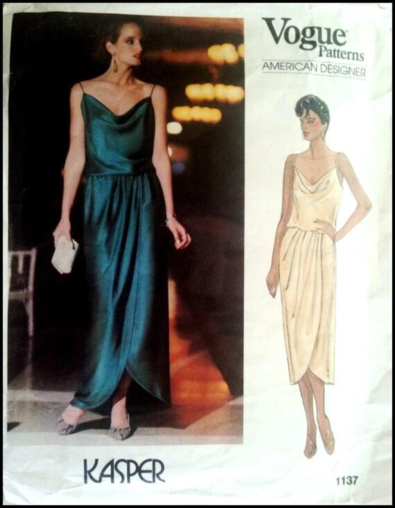 Vogue American Designer Kasper 1137 Misses\' Dress Size