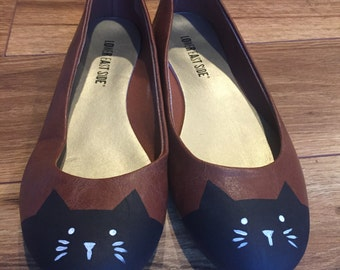 Hand Painted Flats: Size 6