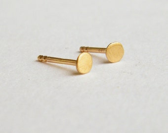 2mm dot stud earrings, Solid 14k gold earrings, single stud earring, tiny gold stud earrings, gold dot earrings, Gold Post Earrings,