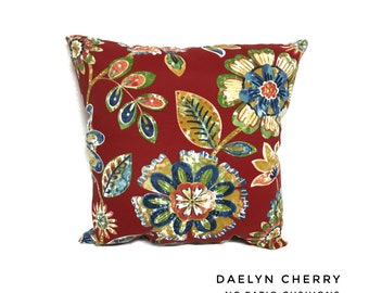 Daelyn Cherry Pillow Water Resistant