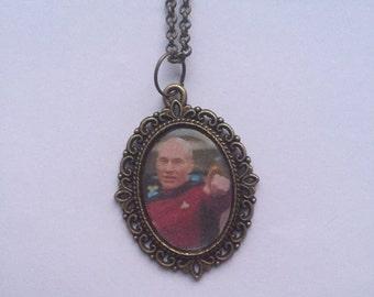 Captain Jean Luc Picard Star Trek Cameo Necklace