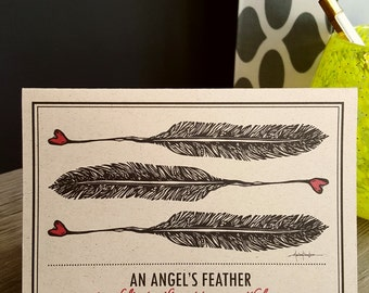 ANGEL'S FEATHER NOTECARD/greeting card