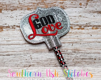DIGITAL DOWNLOAD - God is Love Pencil Topper