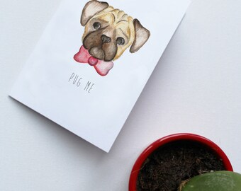Celebration card - Pug Me