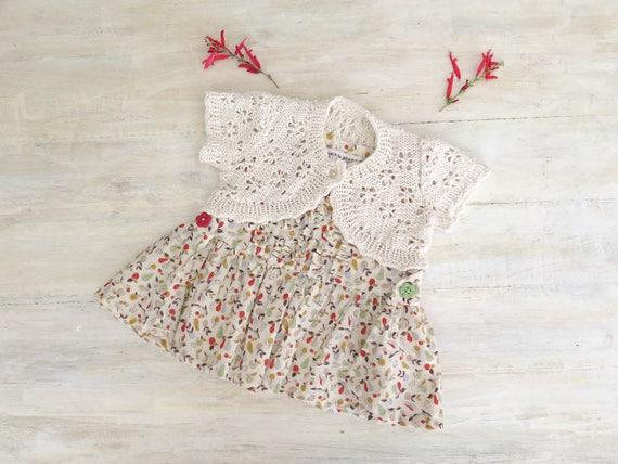 Knitting Pattern Baby Boleros Girls Boleros Bella