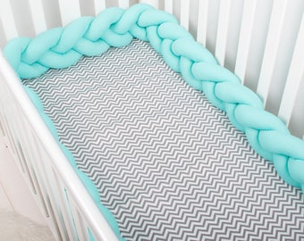 Braided Crib Bumpers, Knot Pillow, Knot Cushion, Nursery Decor, Bolster Pillow, Photo zone, cot bumpers, crib bumper, baby linen, bedding