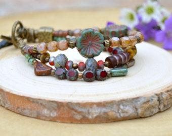 Bracelets for women Beaded bracelet Charm bracelet Gift for women Bohemian jewelry Birthday gift for her Hippie jewelry for women  For mom