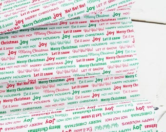 Joy - Holiday Text(White Background) - Bread and Butter - Windham Fabric