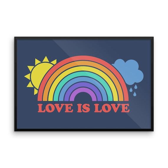 Love is Love Framed poster