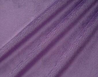 Coupon purple short hair velvet minky fabric