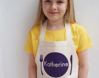 Personalized Girls Apron, personalised kids apron, personalised toddler apron, personalised boys apron, littlechook apron, baking gift