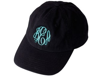 Monogram Black Cap for Women