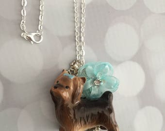 Yorkie Dog Necklace - Dog Pendant- One Of A Kind Yorkshire Terrier Dog Pendant Necklace - Frenchtutu Dog Necklace - Yorkie Dog Lovers Gift