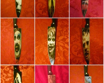 Horror icons stainless steel butcher knife Michael Myers , Jason , Freddy , Chucky
