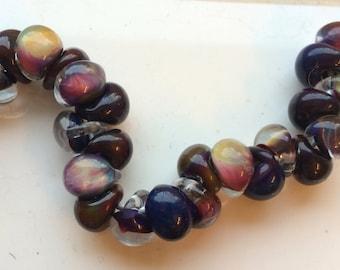 5 Teardrop Handmade Lampwork Beads - Fatima 13mm (22756)