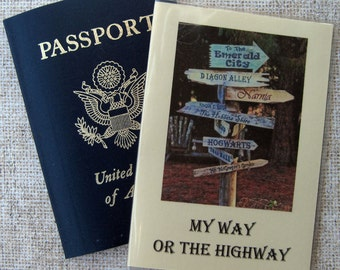 Passport Cover Case Holder with My Way or the Highway Travel Quotes