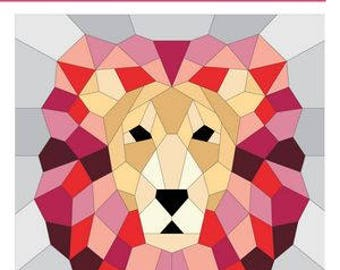 The Lion, An English Paper Piecing Project by Violet Craft