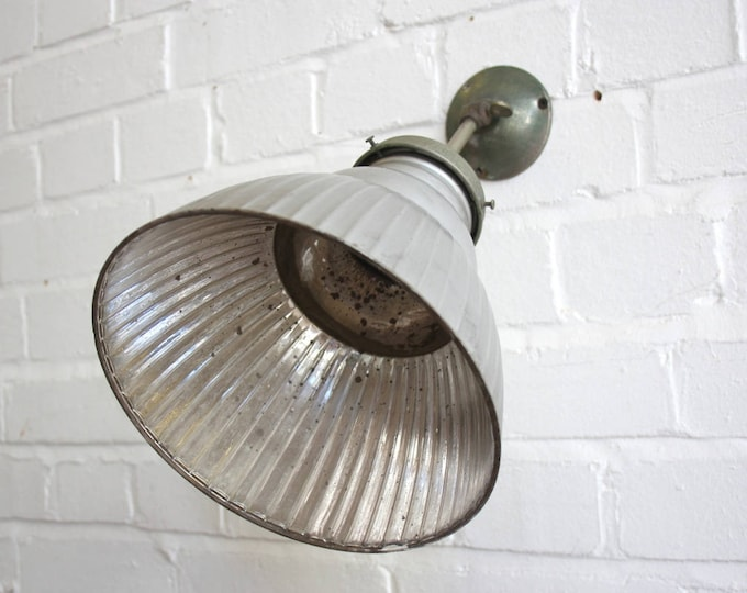 Early 20th Century Wall Mounted Mercury Glass Lamp Circa 1920s