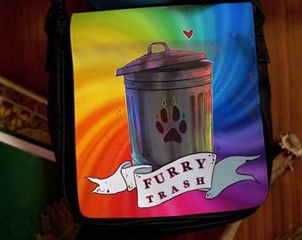Furry trash Bag / Backpack - many sizes