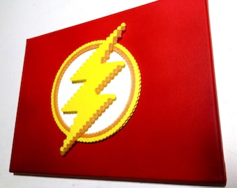 3D Flash Logo Perler Bead Pixel Pop Art