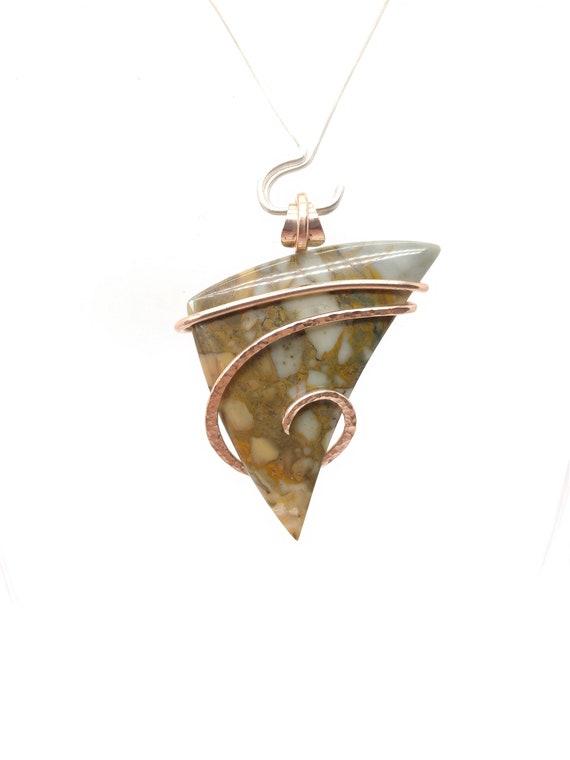 Picture Jasper Pendant | Rocky Butte Picture Jasper Pendant | 14kt Rose Gold Fill | Picture Jasper Necklace | Oregon Picture Jasper Jewelry