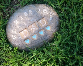 Custom - Pottery Garden Stone or Burial Grave Marker - Stoneware Clay - Pet Memorial - SUNFLOWER
