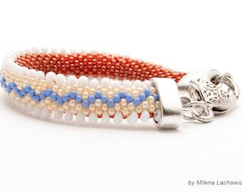 Bead crochet Rope, beaded bracelet
