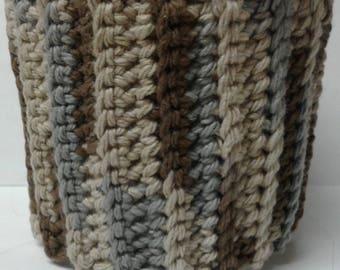 Brown, Tan & Sage Ice Cream Sweater Cozy