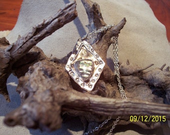 Sterling and Bronze Abalone Mother of Pearl.