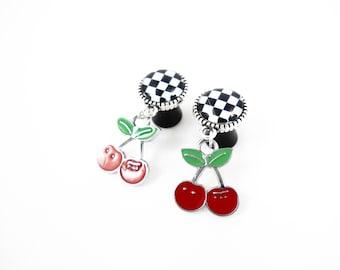 50 mm - Pin plug'up Rockabilly cherry
