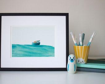Boat - unframed print