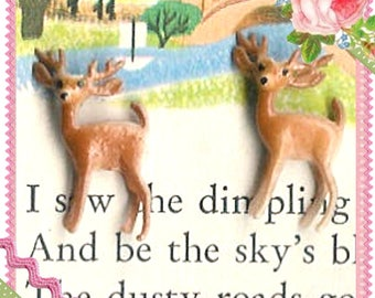 In the Meadow...Tiny Little Deer Figurines
