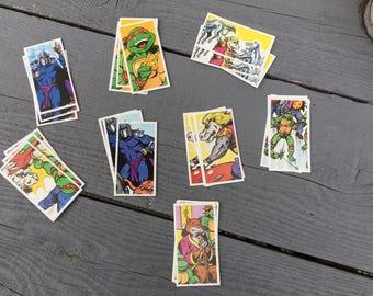 Eight teenage mutant hero turtles collectors cards