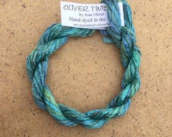 Silk Filament No.08 Lagoon, Embroidery Thread, Hand Dyed Embroidery Thread, Artisan Thread, Textile Art