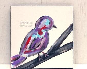 Colorful Bird, Original Painting, Whimsical Bird, Art, Bird Painting, Bird Art, Winjimir, Home Decor, Office Art, Wall Art, Gift,
