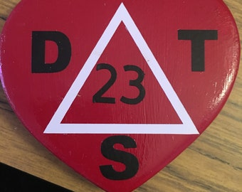 DST, Delta Sigma Theta, Crimson and Cream, Red and White, Sorority Pin Box (Larger size)