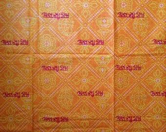 Batik-Bright-Yellow-Orange-White-Red-Linen-Scarf-India-Yoga