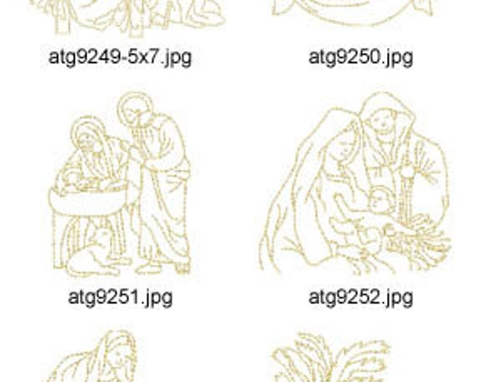 O Holy Night Redwork  ( 10 Machine Embroidery Designs from ATW )