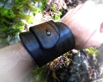 Leather Cuff, Artisan Leather Bracelet